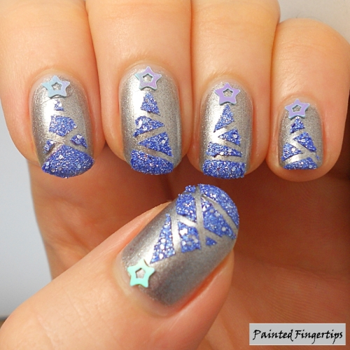 Painted Fingertips   Textured Christmas Trees